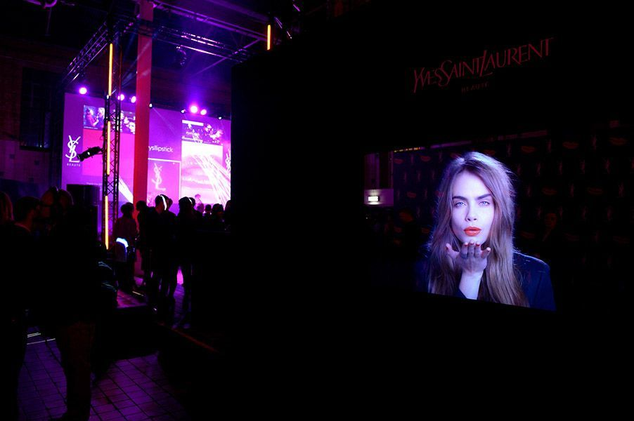 YSL Beaute 'Love Your Lips' Celebration With Cara Delevingne
